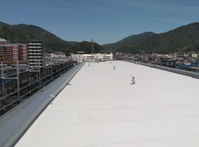 屋上塩ビシート防水完成